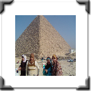 At the Pyramids in Egypt