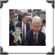Bill Clinton and Flat Stanley
