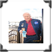 Buzz Aldrin and Flat Stanley