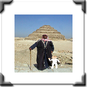 With Ali and the ancient step pyramid